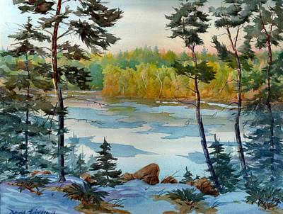 Painting - Lake Ice Before Break Up by David Gilmore