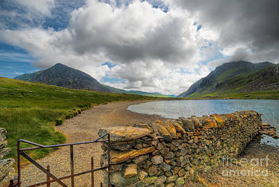 Lake Idwal Gate Print by Adrian Evans