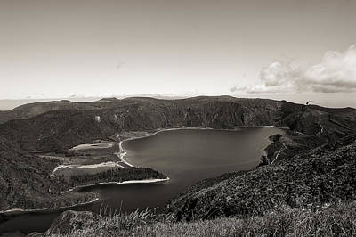 Lake In A Crater Art Print