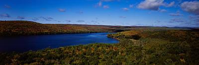 Algonquin Provincial Park Photograph - Lake In A Forest, Rock Lake, Algonquin by Panoramic Images