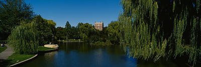 Boston Public Garden Photograph - Lake In A Formal Garden, Boston Public by Panoramic Images