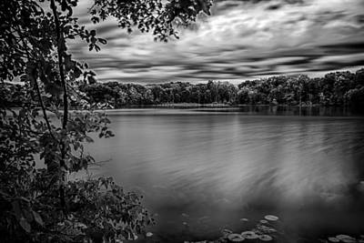 Photograph - Bowen Lake In Black And White by Gene Sherrill