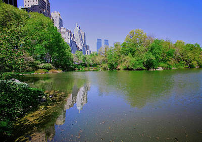 Lake In Central Park In Spring With New Art Print