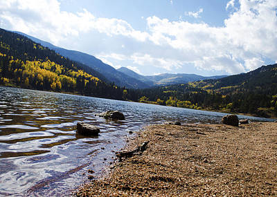 Lake In Colorado Rockies Art Print