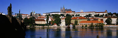 Prague Photograph - Lake In Front Of A City, Charles by Panoramic Images