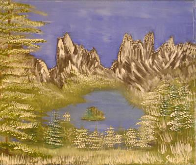 Lake In Glacier Art Print