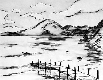 Lake In Guatemala Art Print