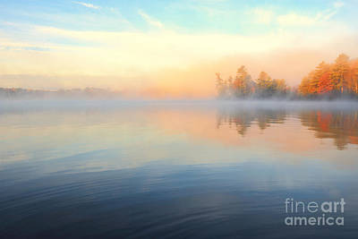 Photograph - Lake In Misty Morning by Charline Xia