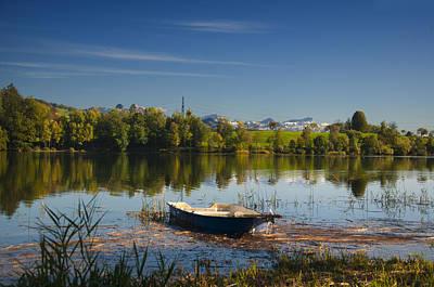 Lake In Switzerland Art Print