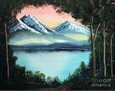 Painting - Lake In The Forest by Stephen Schaps