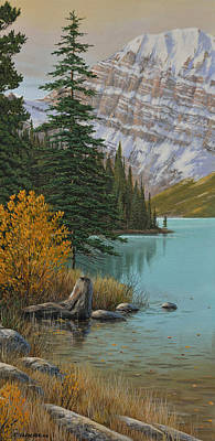 Painting - Lake In The Mountains by Jake Vandenbrink