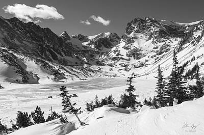 Photograph - Lake Isabell Bw by Aaron Spong