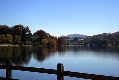 Lake Junaluska In The Mountains Art Print by Paula Tohline Calhoun