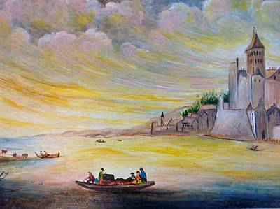 Lake Landscape Art Print by Egidio Graziani