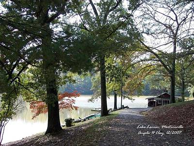 Digital Art - Lake Lanier In Martinsville Va by Angelia Hodges Clay