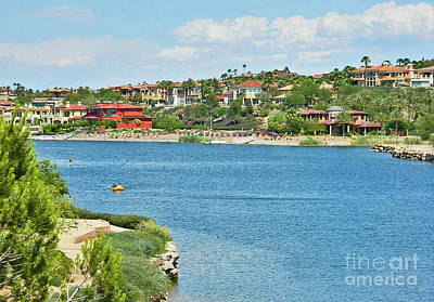 Art Print featuring the photograph Lake Las Vegas In May by Emmy Marie Vickers