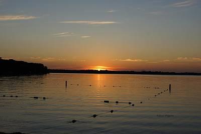 Lake Le Homme Dieu Sunset Art Print by Steven Clipperton
