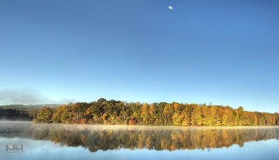 Photograph - Lake Logan Fall Panorama by Roman Wilshanetsky