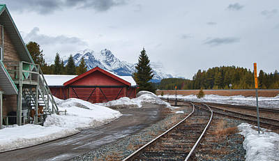 Photograph - Lake Louise Depot by Guy Whiteley