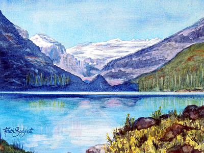 Newton Painting - Lake Louise In Canada by Ruth Bodycott