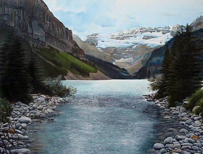 Lake Louise Art Print by Jennifer Hotai