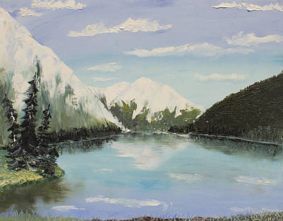 Tourist Site Painting - Lake Louise by Marcel Quesnel