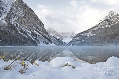 Photograph - Lake Louise Morning Snow by Andrea Hazel Ihlefeld