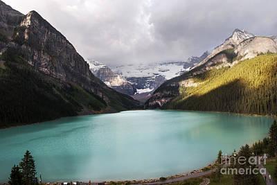 Mountain Royalty Free Images - Lake Louise panorama Royalty-Free Image by Yuri San