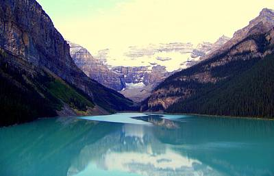 Lake Louise Stillness Art Print by Karen Wiles