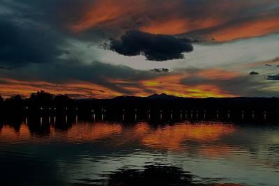 Photograph - Lake Loveland City Reflects by Rae Ann  M Garrett
