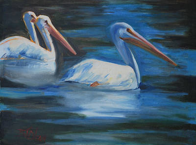 Painting - Lake Loveland Visitors by Billie Colson