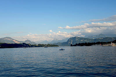 Photograph - Lake Lucerne And The Swiss Alps by Marilyn Burton