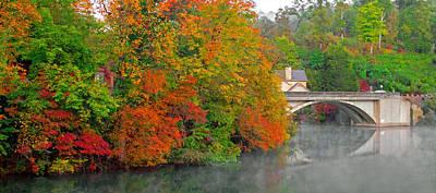 Lake Lure Autumn Art Print by Marion Johnson