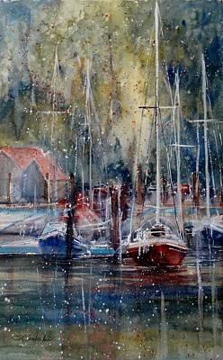 Sandra L. Strohschein Painting - Lake Macatawa by Sandra Strohschein