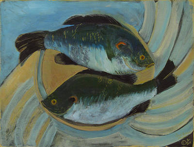 Painting - Lake Martin Fish by Carol Oufnac Mahan