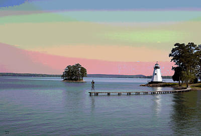 Lake Martin Lighthouse Art Print