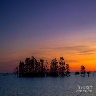Photograph - Lake Mattamuskeet Sunrise Duvet by Scott Hervieux