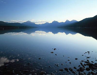 Lake Mcdonald And The Rocky Mountains Art Print