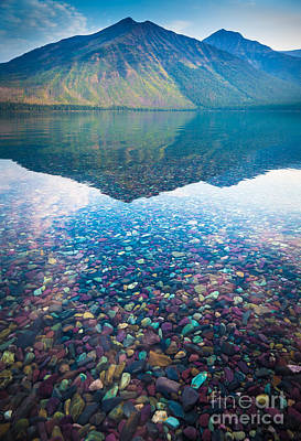Reflective Surfaces Photograph - Lake Mcdonald by Inge Johnsson