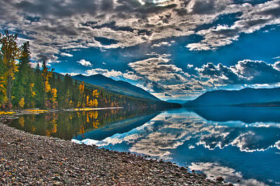 Photograph - Lake Mcdonald Reflections In Autumn Glacier National Park by Brenda Jacobs