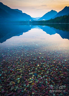 Reflective Photograph - Lake Mcdonald Serenity by Inge Johnsson