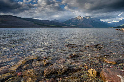 Photograph - Lake Mcdonald Under Dramatic Light by Greg Nyquist