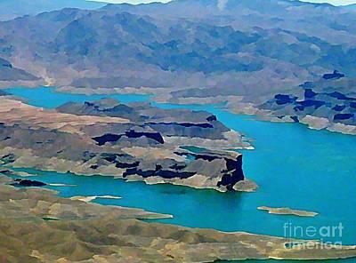 Lake Mead Aerial Shot Art Print by John Malone