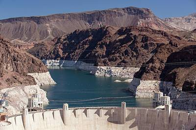 Lake Mead Dam And Hydro Plant Art Print