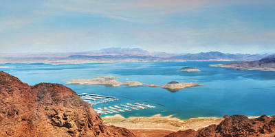 Digital Art - Lake Mead National Recreation Area by Lori Deiter
