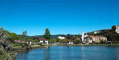 Clear Sky Photograph - Lake Merritt In Springtime, Oakland by Panoramic Images