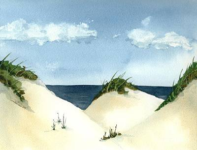 Painting - Lake Michigan Dunes by Lynn Babineau