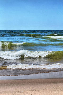 Coast Photograph - Lake Michigan Layers by Michelle Calkins