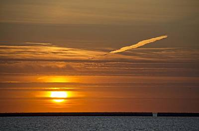 Photograph - Lake Michigan Sunrise by Daniel Sheldon
