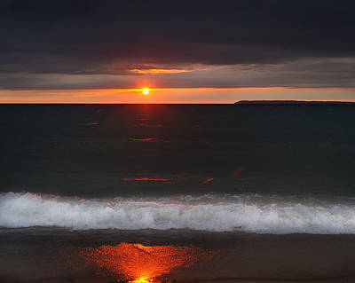 Photograph - Lake Michigan Sunset by Jamieson Brown